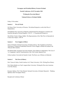 Conference Programme - Newspaper and Periodical History Forum