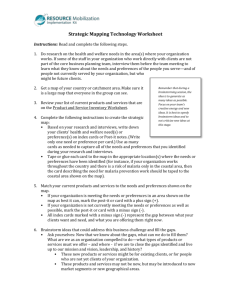 Strategic Mapping Technology Worksheet