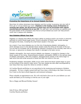 Promoting the Importance of an Annual Diabetic Eye Exam More