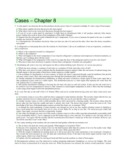 Cases – Chapter 8 1. A solar panel is an electronic device that