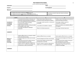 Appendix A: Teaching Competence Evaluation Rubric*