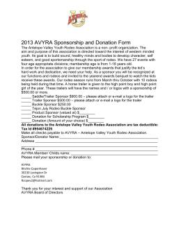 2013 AVYRA Sponsorship and Donation Form The Antelope Valley