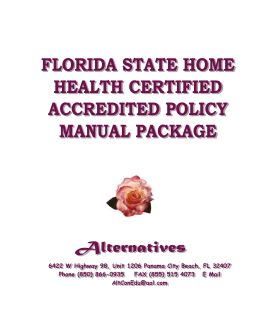 Florida Certified Accreditation Compliant Policy