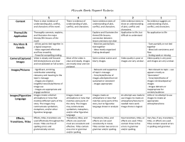Minute Book Report Rubric 5 4 3 2 1 Content There is clear