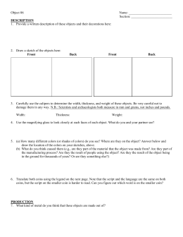 Worksheet for Object 6 ()