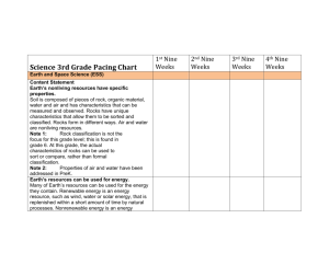 Science 3rd Grade Pacing Chart