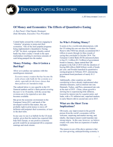 Of Money and Economics: The Effects of Quantitative