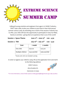 Extreme science summer camp