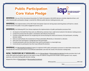 Core Values Pledge