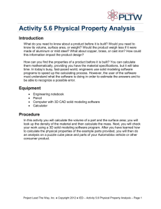 Activity 5.6 Physical Property Analysis Introduction