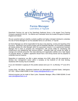 Farms Manager - Dawnfresh Seafoods