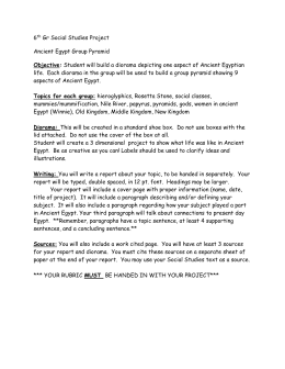 6th-Gr-Social-Studies-Project-EGYPT