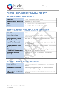 Department Review Report Template