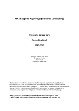 MA in Applied Psychology (Guidance Counselling)