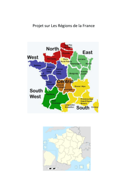 Regions of France project / Uploaded File