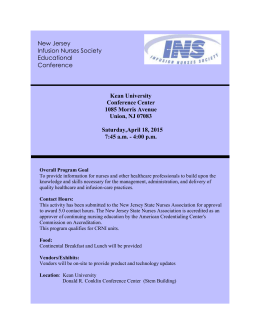 Program - Infusion Nurses Society