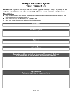 Strategic Management Systems Project Proposal form