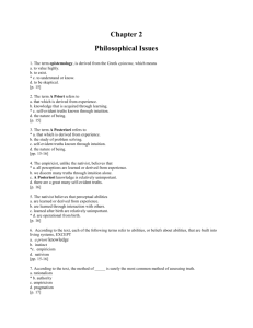 Chapter 2 Philosophical Issues