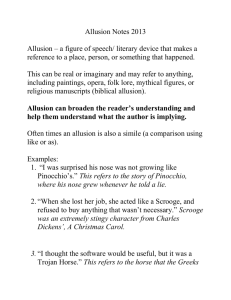 Allusion can broaden the reader`s understanding and help them