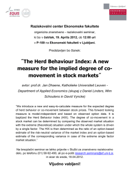 The Herd Behaviour Index