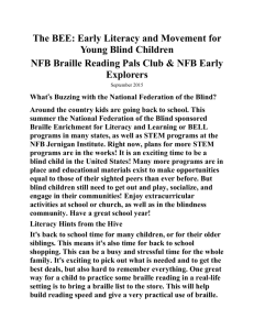 The BEE: Early Literacy and Movement for Young Blind Children