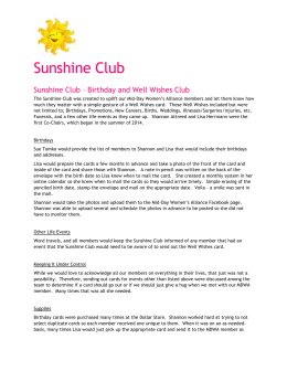 Sunshine Club - Mid-Day Women`s Alliance