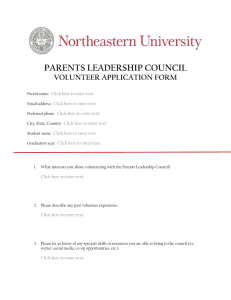 parents leadership council volunteer application form