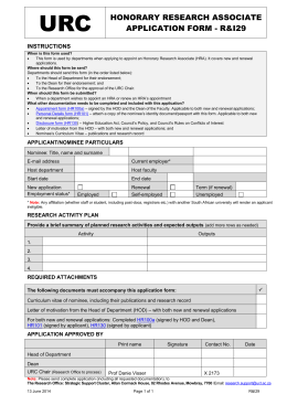R&I29 - UCT Administrative Forms