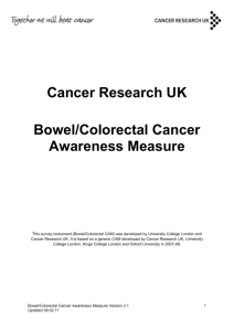 Cancer Research UK Bowel/Colorectal Cancer