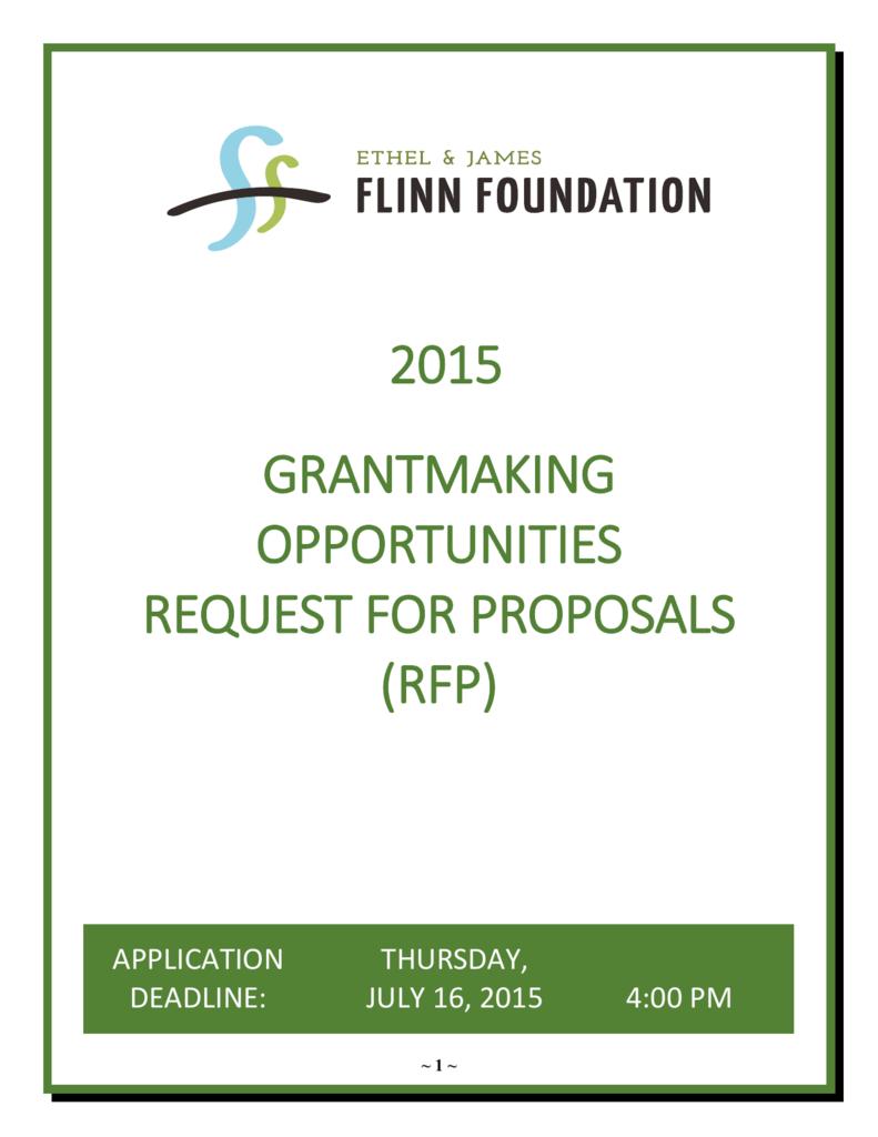 Grantmaking Opportunities