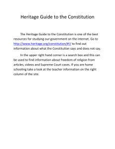 Heritage Guide to the Constitution The Heritage Guide to the