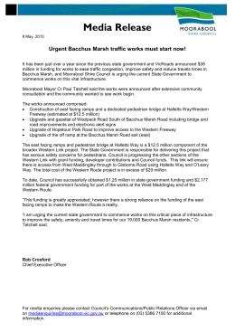 Media Release - Moorabool Shire Council