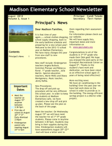 Principal`s News - Groveport Madison School District