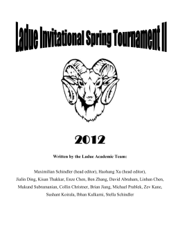 LISTII_Round01 - High School Quizbowl Packet Archive