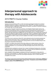 therapy with Adolescents
