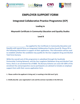 Employer support form - DLR