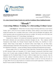 Converting Military Training to a Rewarding Civilian Career