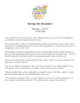 Heritage day Reminders