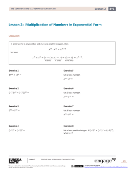 Grade 8 Mathematics Module 1, Topic A, Lesson 2