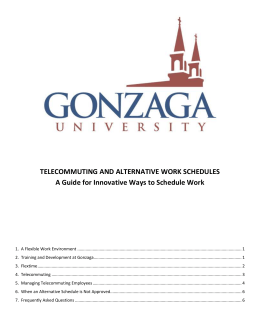 telecommuting and alternative work schedules