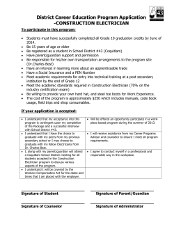 Construction Electrician Application Form
