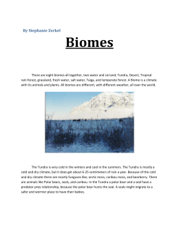 Chapter 6 - Biomes 6.1 - What is a Biome 6.2 - Forest ...