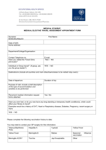 Medical Student Travel Risk Assessment Form