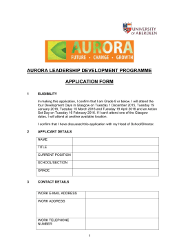 Aurora Application Form