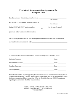 Provisional Accommodations Agreement Template