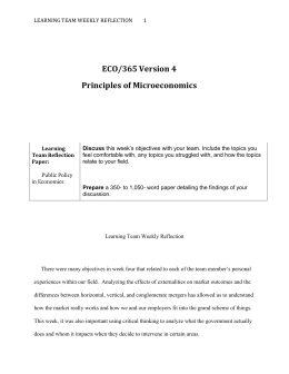 ECO/365 Version 4 Principles of Microeconomics