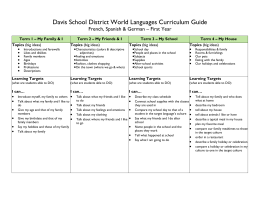 Davis School District World Languages Curriculum Guide French