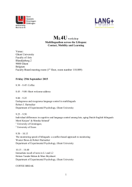 programme Ml4U workshop 25