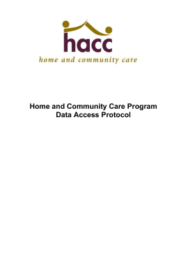 HACC MDS Data Access Protocol - Department of Social Services