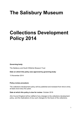 SM_Collections Development Policy_Oct 2014
